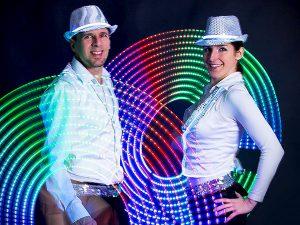LED fény tánc show műsor rendezvényre