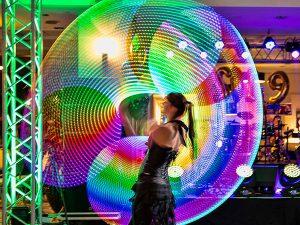 LED fény tánc show műsor